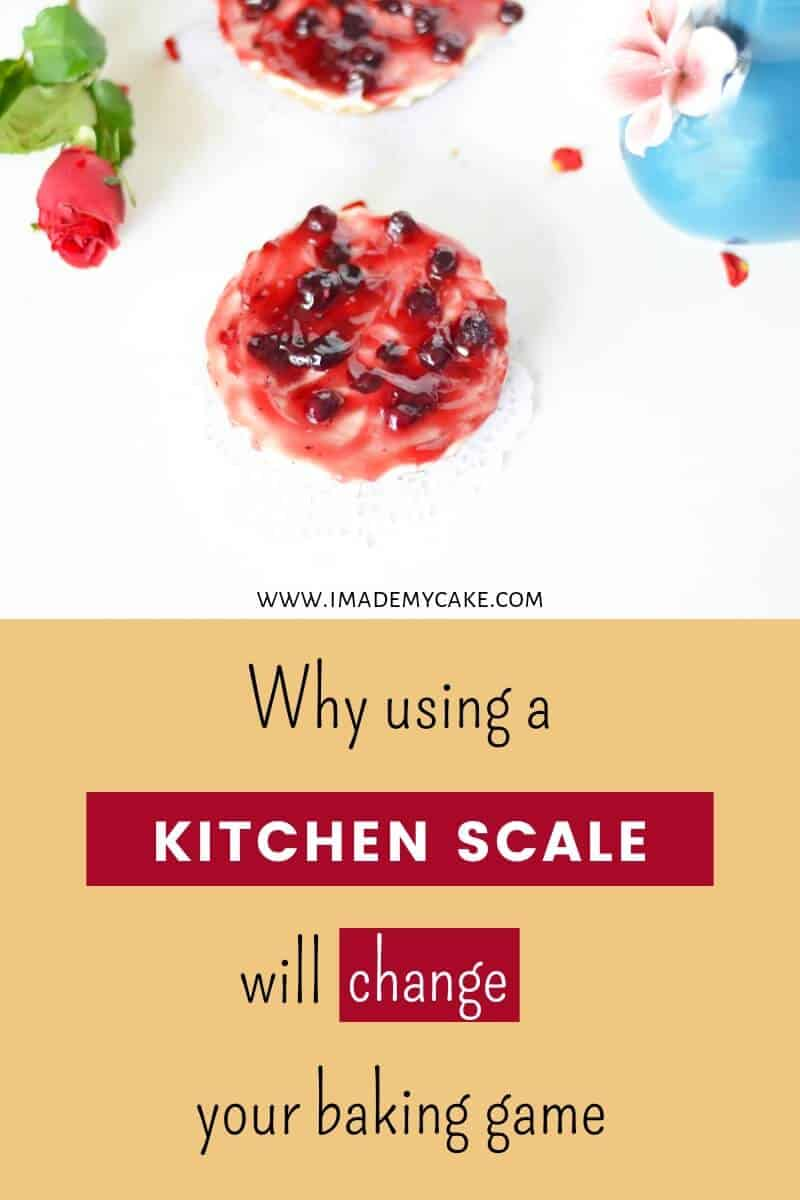 perfect blueberry cheesecake by using a kitchen scale for baking