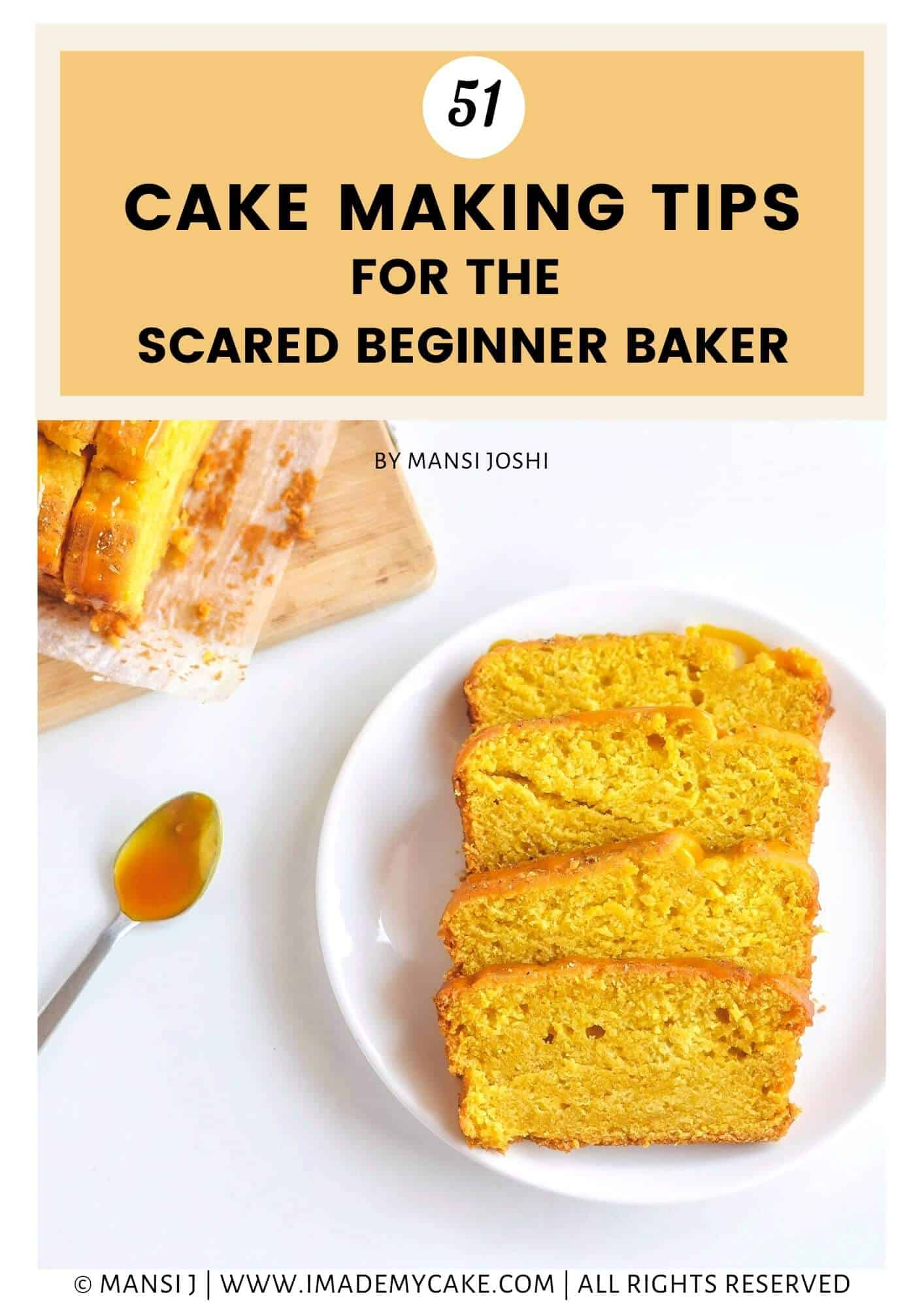 Cake Slices on a White Plate baked perfectly with the help of cake making tips
