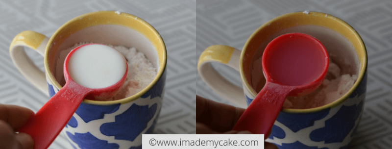 snickerdoodle mug cake_add milk and water