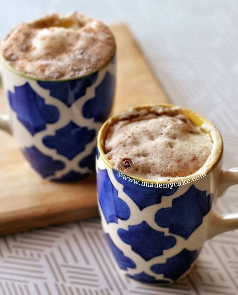 snickerdoodle mug cake for two