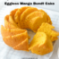 eggless mango bundt cake on a parchment paper