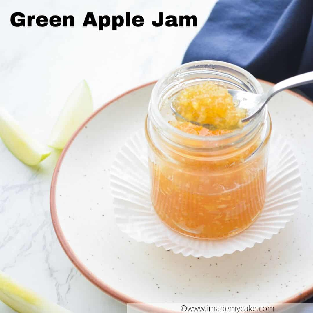 a spoonful of fresh Green Apple Jam